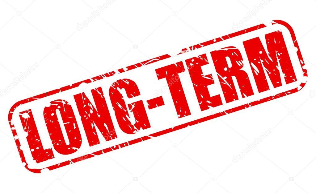 Long Term Clip Art : 장기적인 붉은 스탬프 텍스트 — 스톡 벡터 pockygallery