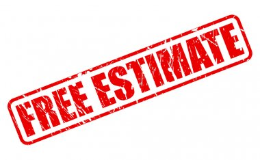 FREE ESTIMATE red stamp text