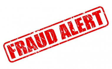 FRAUD ALERT red stamp text