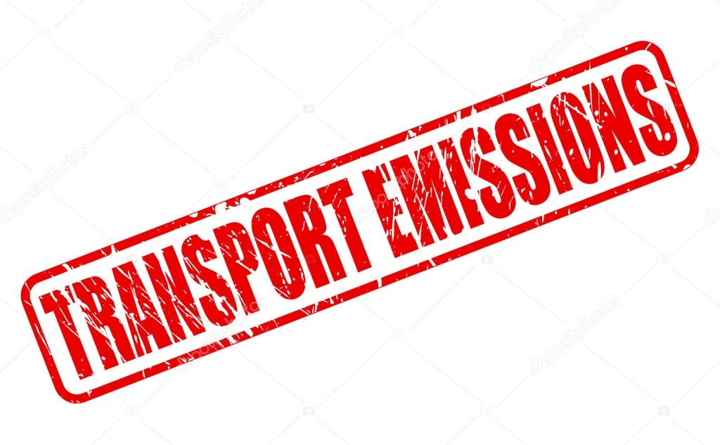 TRANSPORT EMISSIONS red stamp text