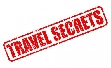 Travel Secrets red stamp text