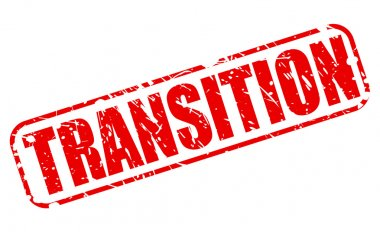 Transition red stamp text
