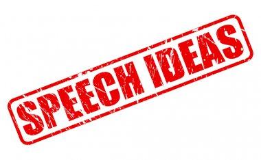 SPEECH IDEAS red stamp text