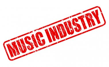 MUSIC INDUSTRY red stamp text