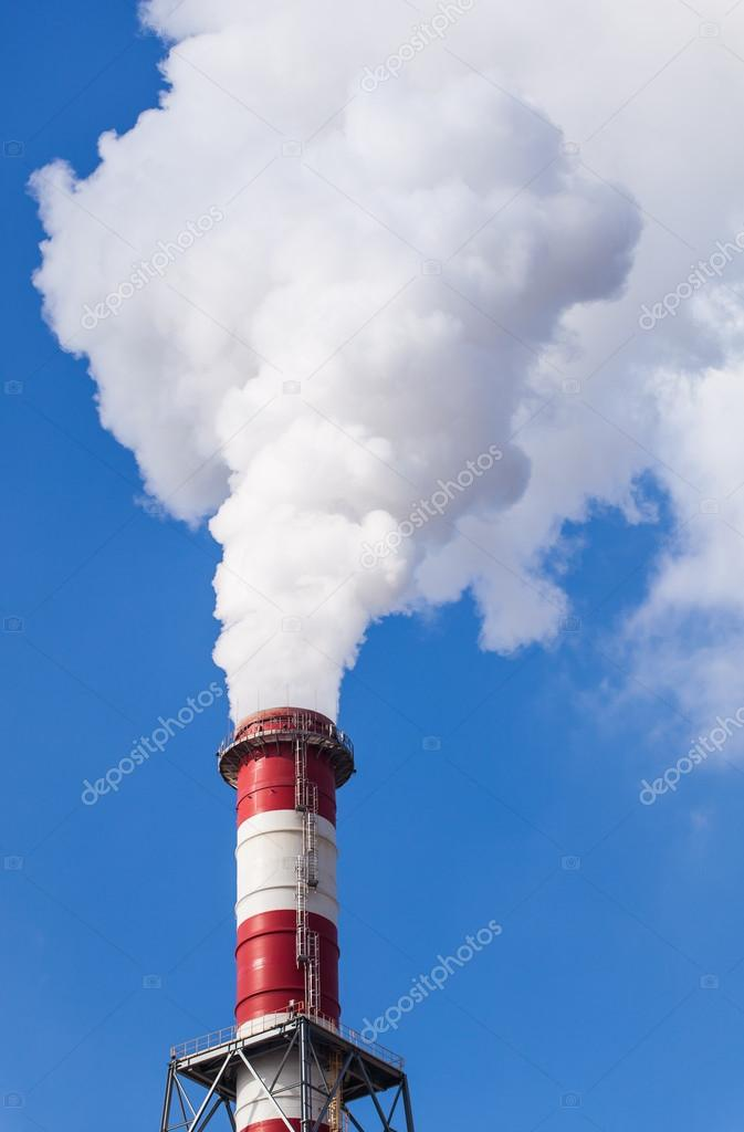Smoking industrial chimney