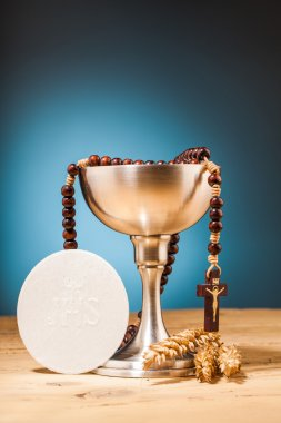 Cross and goblet close up