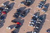 Letecký pohled na parkoviště