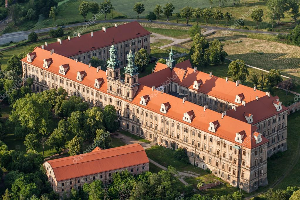 aerial view of Lubiaz abbey