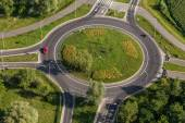 Fotografie aerial view of roundabout