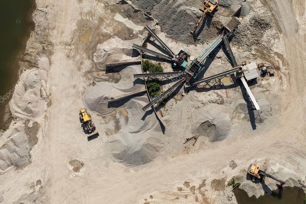 Quarry stone processing plant