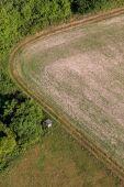 Fotografie Letecký pohled na polích