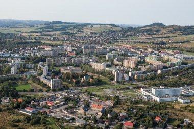 aerial view of the Jelenia Gora city