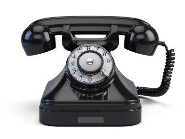 Old-fashioned retro rotary telephone
