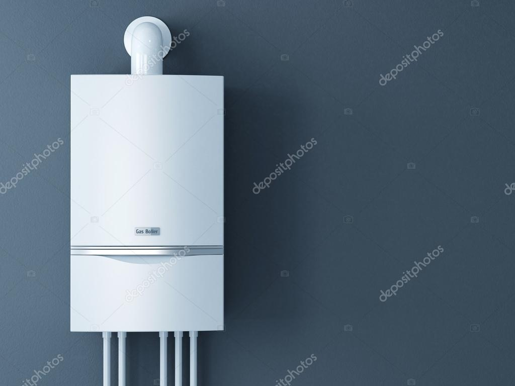 Modern home gas fired boiler. Heating a house concept — Stock Photo ...