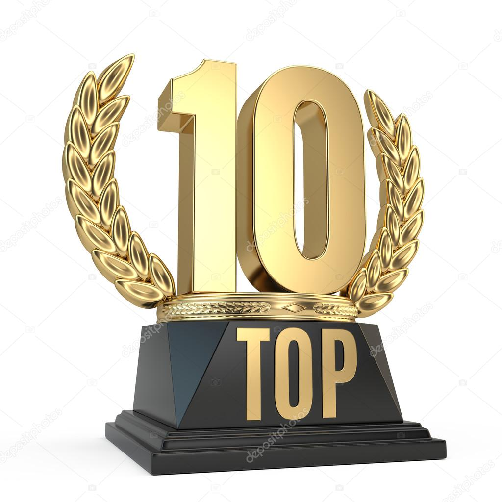 Top 10 Girls Christmas Gifts: Top 10 Ten Award Cup Symbol Isolated On White Background