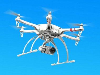 Quadrocopter drone with camera