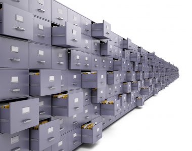 File cabinets on white