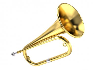 Bugle music instrument