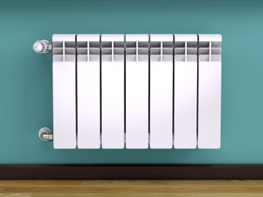 White contemporary heating radiator