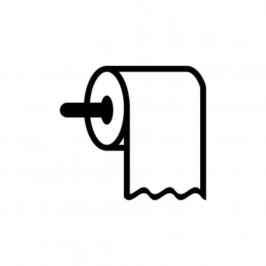 Toilet paper icon design template vector isolated illustration icon