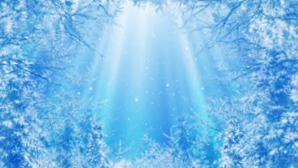 Winter scenery background animation