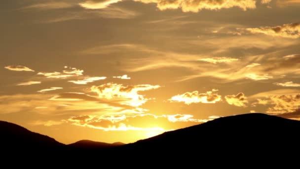 Večerní obloha časová prodleva