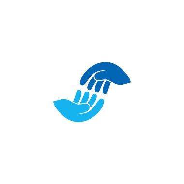 Illustration helping hand icon vector. symbol for web flat design icon