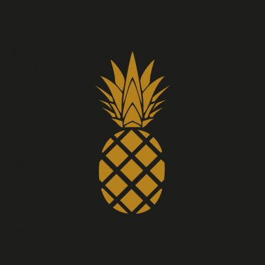 Golden pineapple icon. Graphic elements for your design icon