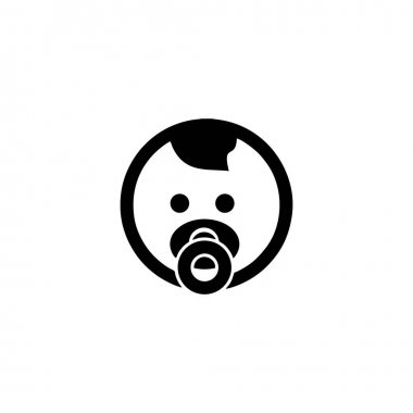 Baby simple face icon. Graphic elements for your design icon