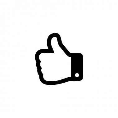 Thumbs up hand outline icon. Graphic elements for your design icon
