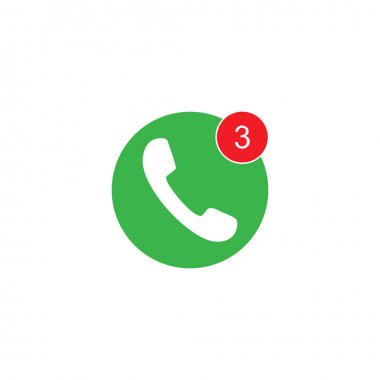 Phone three missed call icon. Graphic elements for your design icon