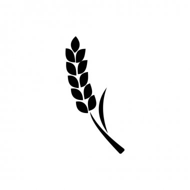 Flat wheat logo icon vector. symbol for web flat design icon