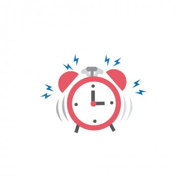 Illustration of alarm clock Icon vector. symbol for web site Computer and mobile vector icon