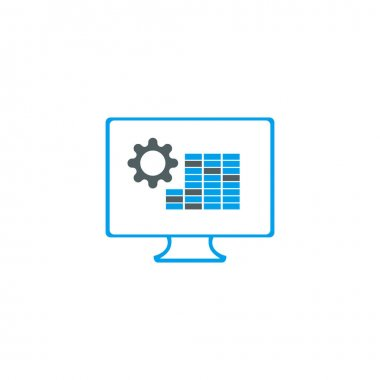 Monitor simple icon. Graphic elements for your design icon