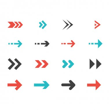 Collection of arrow icon. Graphic elements for your design icon