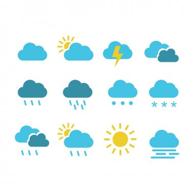 Collection weather icon logo icon