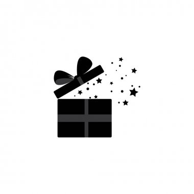 Gift big box icon logo icon