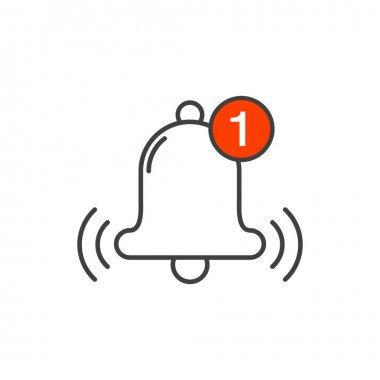 Bell line symbol for your web site design, logo, app, UI icon