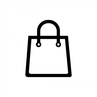 Shopping bag icon on white background icon