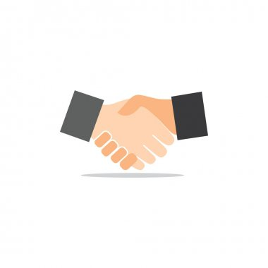 Business agreement handshake line art icon for apps and websites icon
