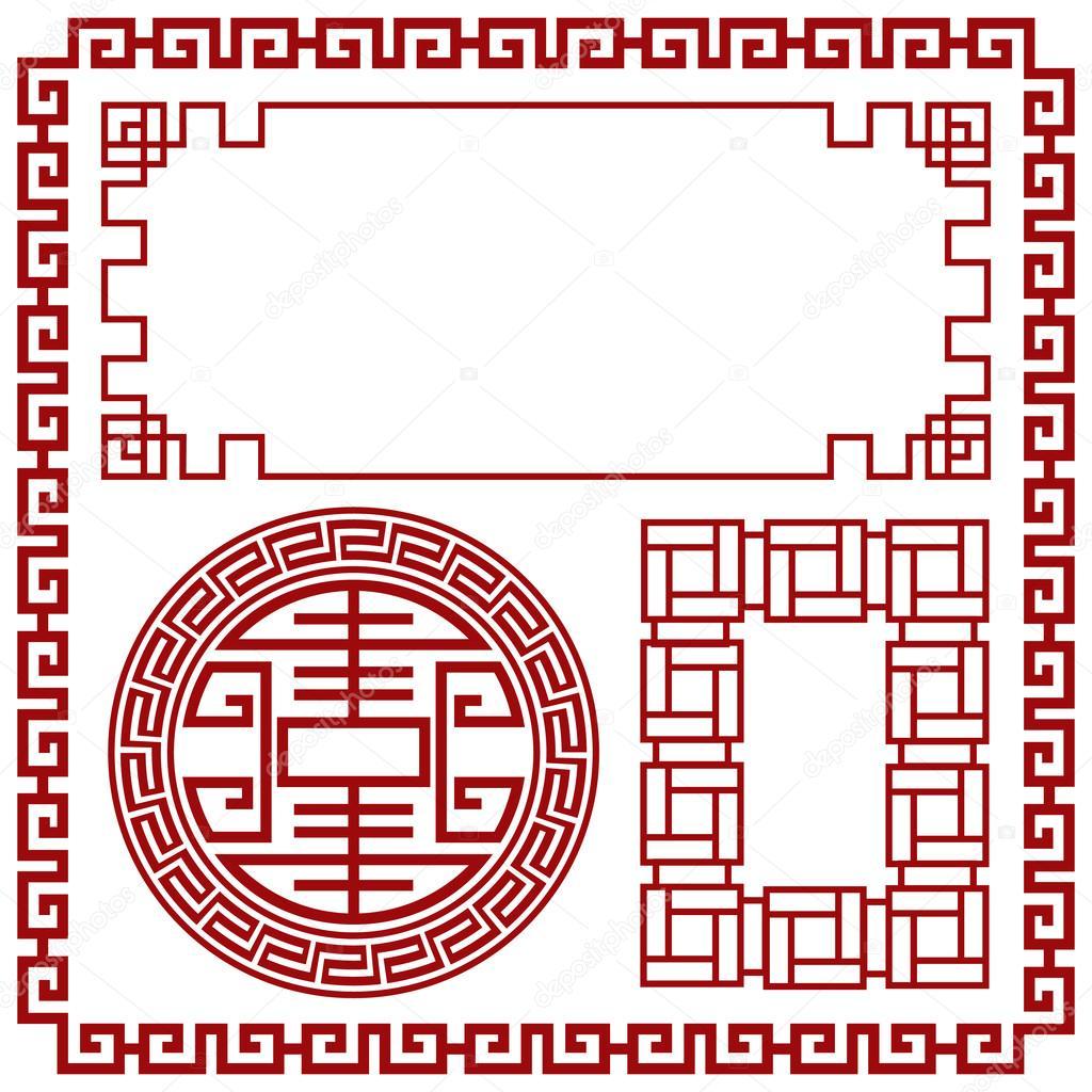 Frontera con China, China marco decorativo — Archivo Imágenes ...