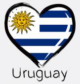 Fotografia Bandierina di grunge Uruguay lamore