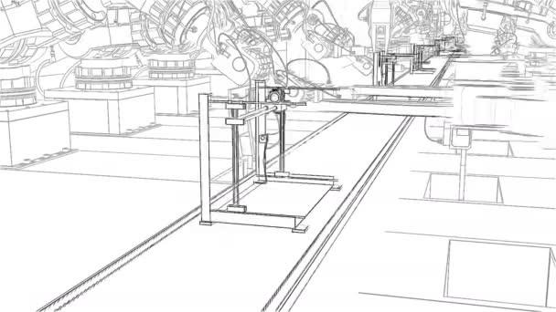 Robotické rameno, montážní 3d tiskárnu na dopravní pás