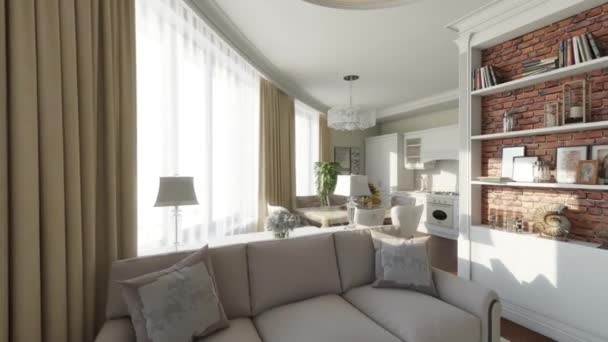 vnitřní prostor domácí flytrough