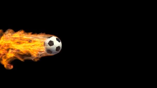 Animált foci labdát a tűz