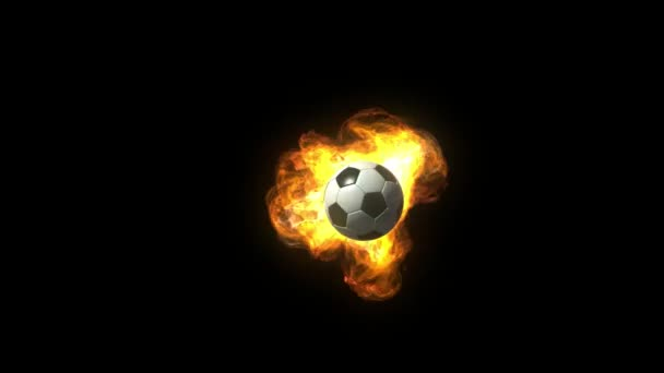 animierter Fußballball in Flammen