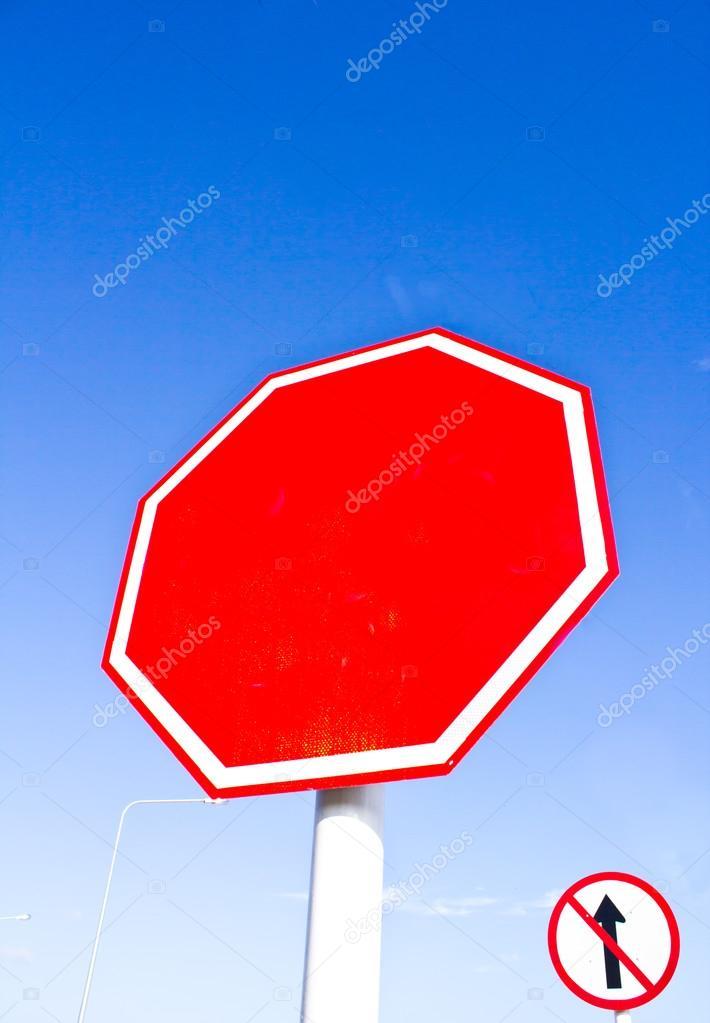 Blank stop sign — Stock Photo © torsak #70403123