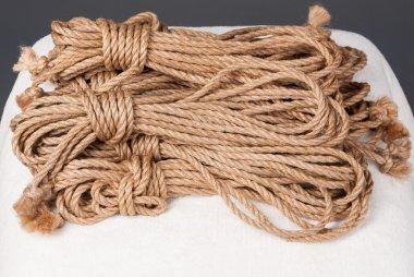 beige ropes for bondage