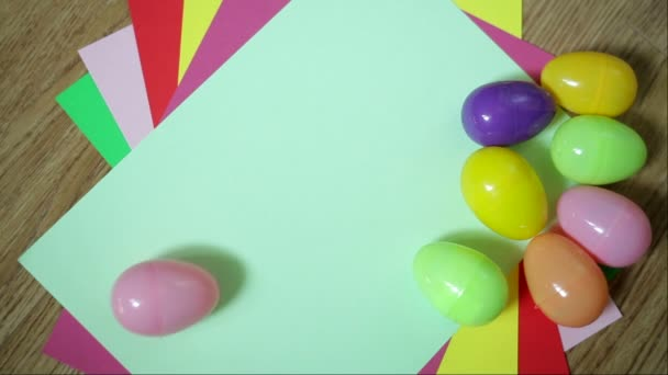 Nice colorful background with Easter eggs
