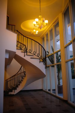 spiral staircase in a beautiful house